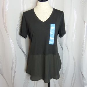NEW Premise Pirate Black Sheer Waist Top   Size L